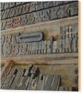 Transient Elements Wood Print