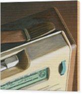 Transistor Radio Wood Print