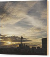 Transpicuous Balcony Sunset #0010 Wood Print