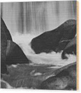 Trap Falls In Ashby Ma Black And White 6 Wood Print
