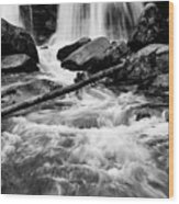 Trap Falls In Ashby Ma Black And White 1 Wood Print