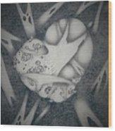 Corrupted Heart Wood Print