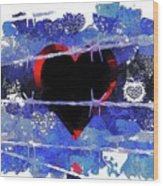 Trapped Heart Wood Print
