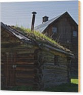 Trappers Cabin Clydesdale Barn Wood Print