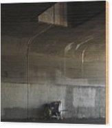 Trash Under Bridge. Wood Print
