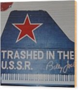 Trashed In The U S S R Wood Print