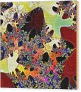 Travel By Hyperchromatic Spore Wood Print