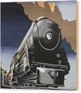 Travel Canadian Pacific Across Canada - Steam Engine Train - Retro Travel Poster - Vintage Poster Wood Print