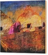 Travel Exotic Woman On Ramparts Mehrangarh Fort India Rajasthan 1h Wood Print