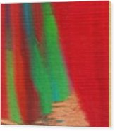 Travel Shopping Colorful Scarves Abstract Series India Rajasthan 1a Wood Print