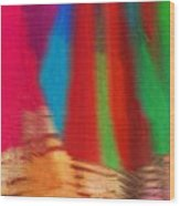 Travel Shopping Colorful Scarves Abstract Series India Rajasthan 1b Wood Print