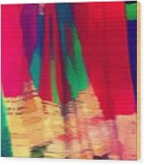 Travel Shopping Colorful Scarves Abstract Series Square India Rajasthan 1h Wood Print