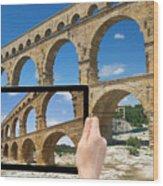 Travel To Pont Du Gard  Wood Print