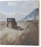 Traveling And Exploring Indonesian Volcanoes Wood Print