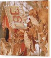 Traveling Bird House Wood Print