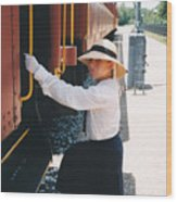 Traveling By Train Wood Print