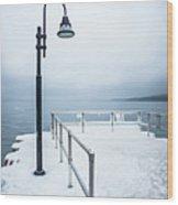 Traverse City Michigan Scenery Around On Lake Michigan Wood Print