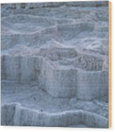 Mammoth Hot Springs Travertine Terraces Two Wood Print