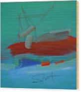 Trawler Wood Print