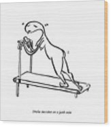 Treadmill Wood Print