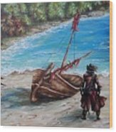Treasure Bay Wood Print