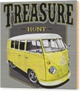 Treasure Hunt Bus Wood Print