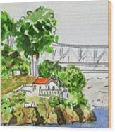Treasure Island - California Sketchbook Project  Wood Print