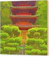 Treasure Tower Wood Print