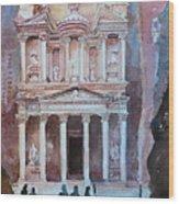 Treasury Building Petra Jordan Wood Print