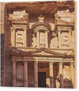 Treasury Of Petra In Color Wood Print