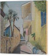 Treasury Street St Augustine Wood Print