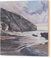 Trebarwith Strand Wood Print