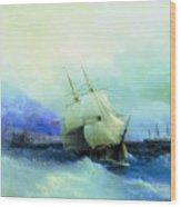 Trebizond From The Sea 1875 61h94 Ivan Konstantinovich Aivazovsky Wood Print