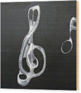 Treble Clef Wood Print
