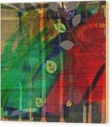 Tree and a skewed rainbow Wood Print