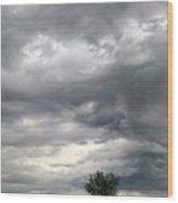 Tree And Cloud Wood Print