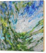 Tree And Sky Wood Print
