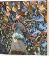 Tree Angel Wood Print
