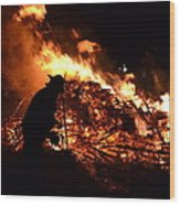 Tree Burning Wood Print