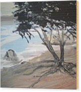 Tree By The Sea By Betty Wood Print