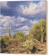 Tree Cactus Wood Print