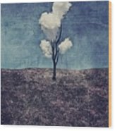Tree Clouds 01d2 Wood Print