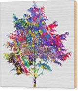 Tree-colorful Wood Print