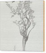 Tree Dancer In Flight Wood Print