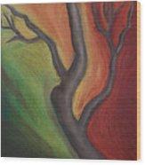 Tree Dancing Wood Print