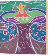 Tree Design Wood Print by Joni Mazumder