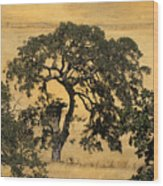 Tree Formation 2 Wood Print