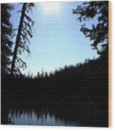 Tree-framed Lake Wood Print