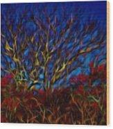 Tree Glow In The Dark Wood Print