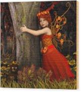 Tree Hug Wood Print